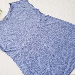 Talbots Blue V Neck Athleisure Sporty Dress sz 2X